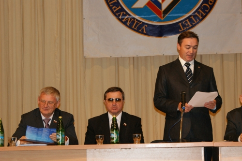 Приветствие Чеченова Х.Д. - председателя комитета по образованию и науке Совета Федераций РФ.